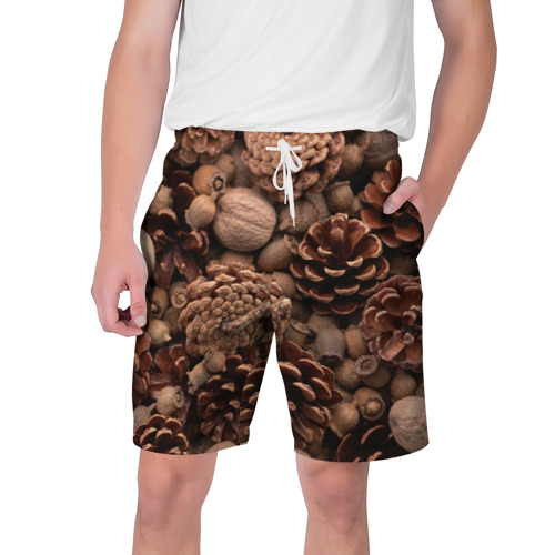 Мужские шорты 3D  Фото 01, Шишки и орешки