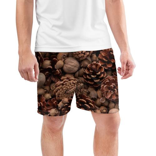 Мужские шорты 3D спортивные  Фото 03, Шишки и орешки