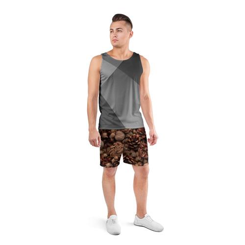 Мужские шорты 3D спортивные  Фото 04, Шишки и орешки