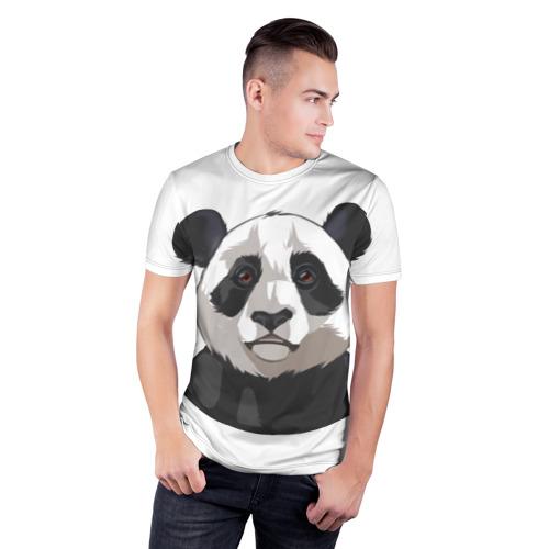 Мужская футболка 3D спортивная  Фото 03, Panda