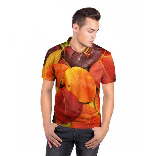 Мужская рубашка поло 3D  Фото 05, Осенний покров
