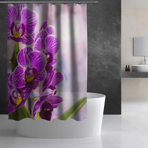 Штора 3D для ванной Божественная орхидея Фото 01