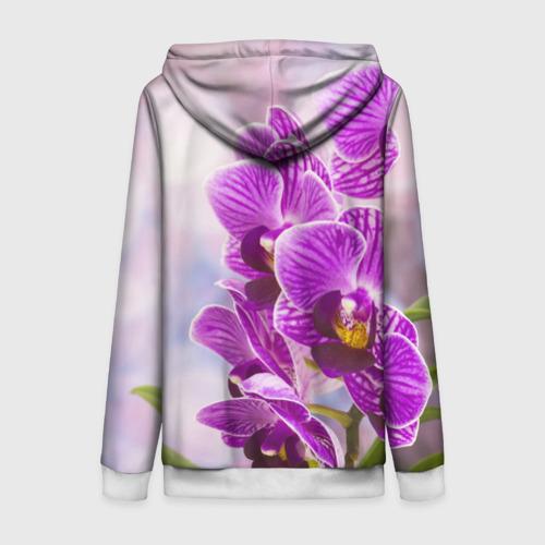 Женская толстовка 3D на молнии Божественная орхидея Фото 01