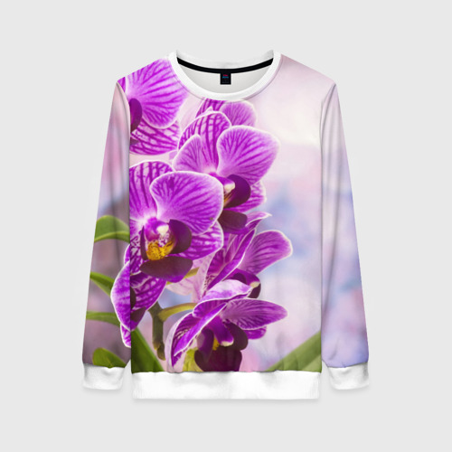 Женский свитшот 3D Божественная орхидея Фото 01