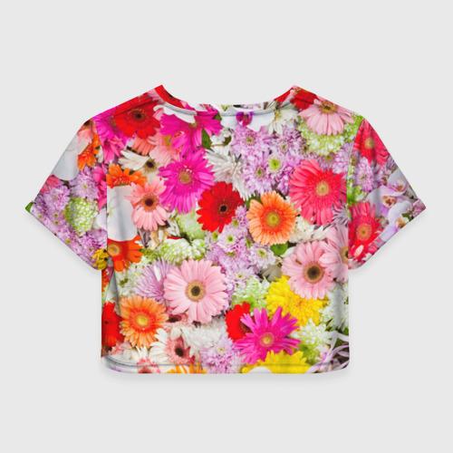 Женская футболка 3D укороченная  Фото 02, Обилие цветов