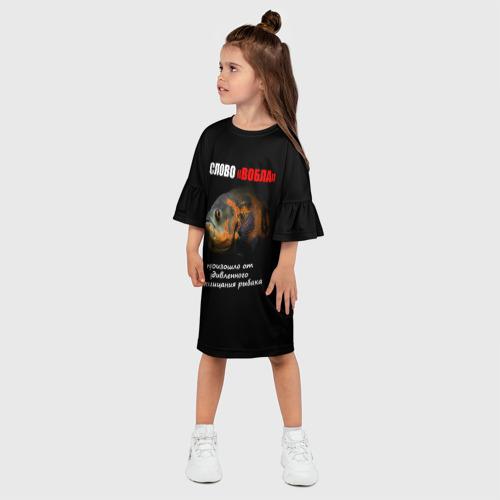 """Детское платье 3D  Фото 03, Слово \""""вобла\"""""""