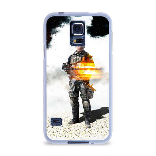 Чехол для Samsung Galaxy S5 силиконовый  Фото 01, Battlefield 4 Soldier