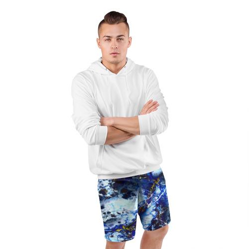 Мужские шорты 3D спортивные  Фото 05, Молнии
