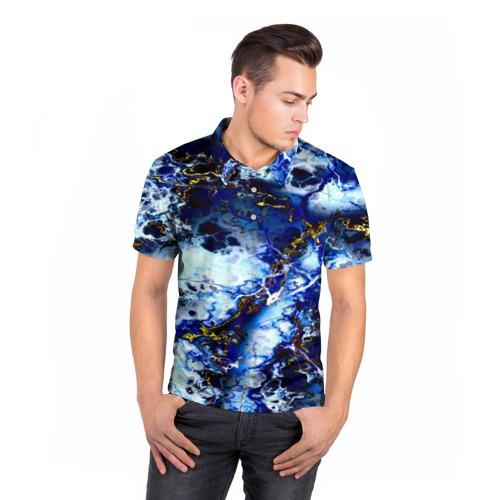 Мужская рубашка поло 3D  Фото 05, Молнии