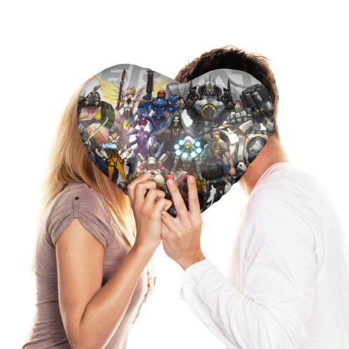 Подушка 3D сердце  Фото 03, Overwatch