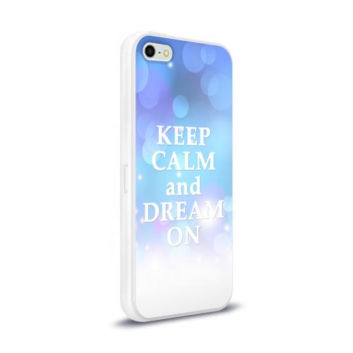 Чехол для Apple iPhone 5/5S силиконовый глянцевый  Фото 02, KEEP CALM and dream