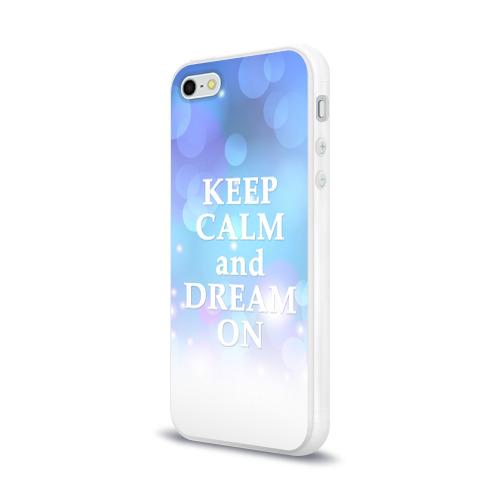 Чехол для Apple iPhone 5/5S силиконовый глянцевый  Фото 03, KEEP CALM and dream