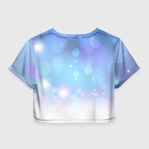 Женская футболка 3D укороченная  Фото 02, KEEP CALM and dream
