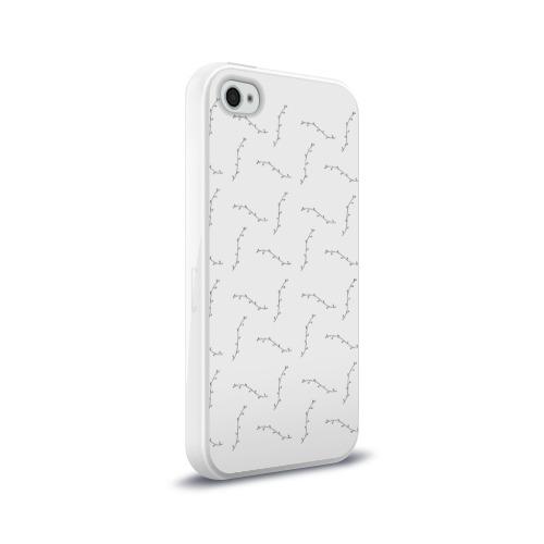 Чехол для Apple iPhone 4/4S силиконовый глянцевый  Фото 02, Узоры
