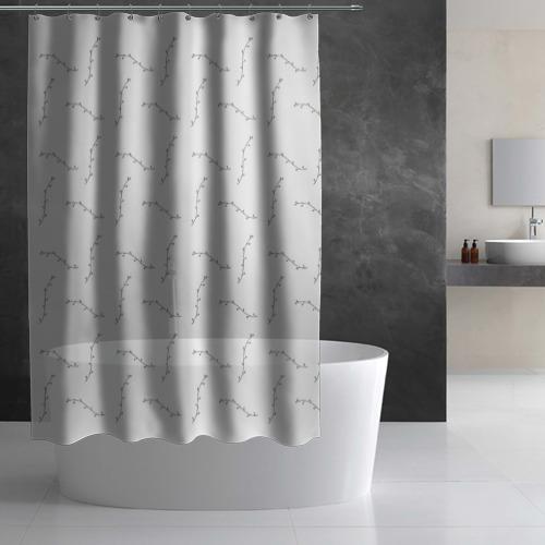 Штора 3D для ванной  Фото 02, Узоры