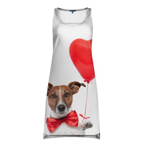 Платье-майка 3D Собака