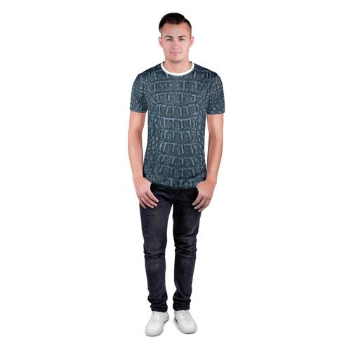 Мужская футболка 3D спортивная  Фото 04, Из кожи аллигатора
