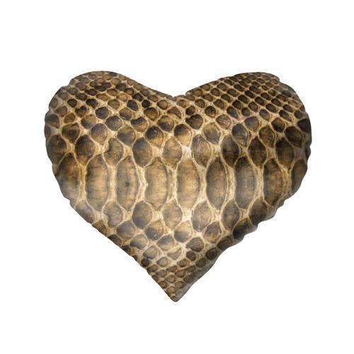 Подушка 3D сердце  Фото 02, Змеиная кожа