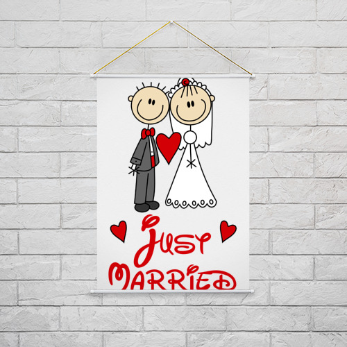 Тканевый плакат  Фото 02, Just married