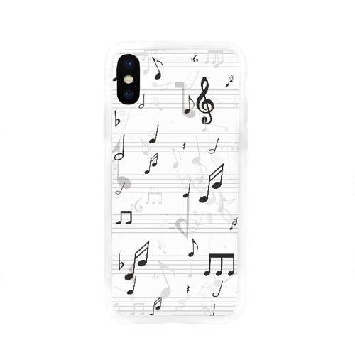 Чехол для Apple iPhone X силиконовый глянцевый  Фото 01, ноты