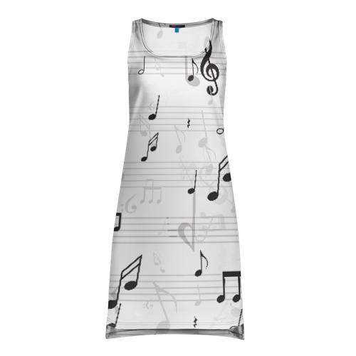Платье-майка 3D ноты