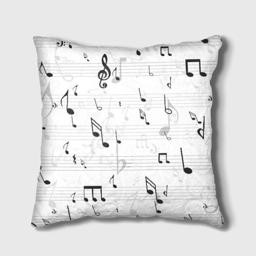 Подушка 3D ноты Фото 01