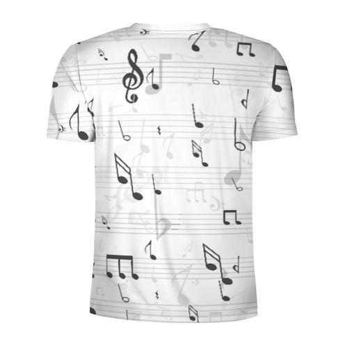 Мужская футболка 3D спортивная  Фото 02, ноты