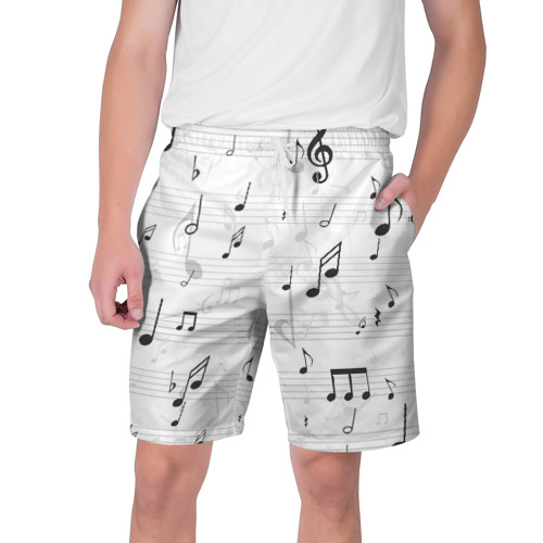 Мужские шорты 3D ноты