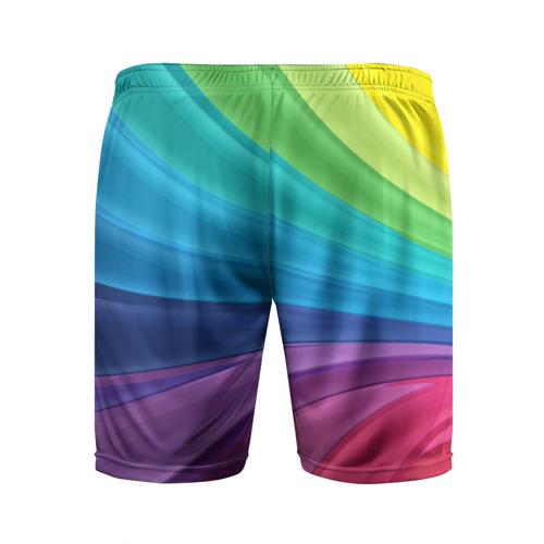 Мужские шорты 3D спортивные  Фото 02, Радуга