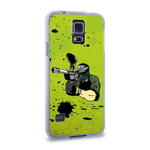 Чехол для Samsung Galaxy S5 силиконовый  Фото 02, Paintball-спорт
