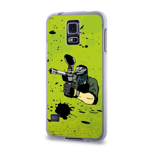 Чехол для Samsung Galaxy S5 силиконовый  Фото 03, Paintball-спорт