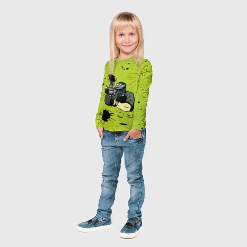 Детский лонгслив 3D  Фото 04, Paintball-спорт