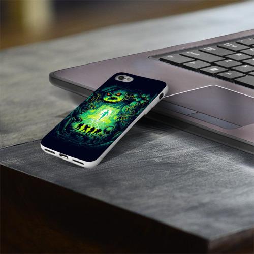Чехол для Apple iPhone 8 силиконовый глянцевый  Фото 03, Охотники за привидениями
