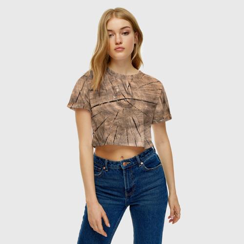 Женская футболка 3D укороченная  Фото 04, Дровосек