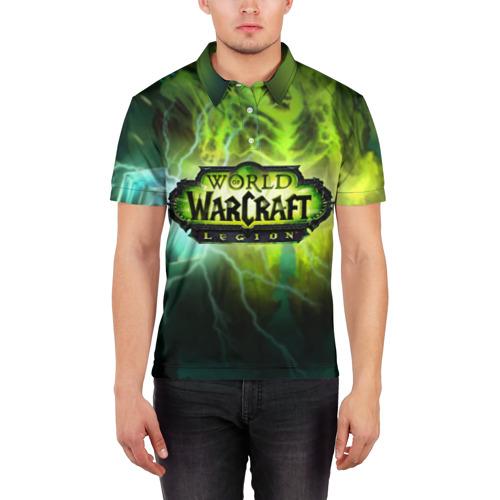 Мужская рубашка поло 3D  Фото 03, WoW: Legion