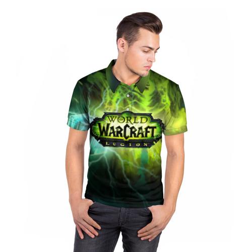 Мужская рубашка поло 3D  Фото 05, WoW: Legion