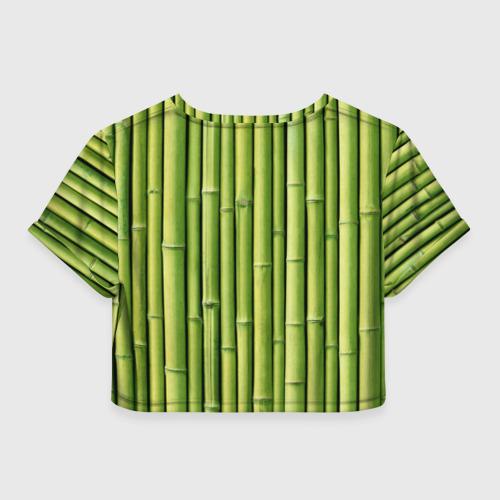 Женская футболка 3D укороченная  Фото 02, Бамбук