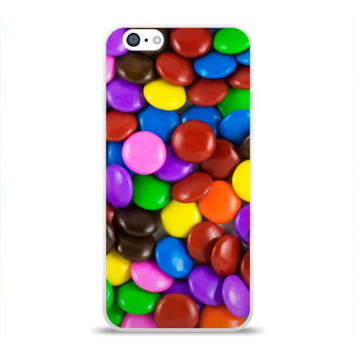 Чехол для Apple iPhone 6 силиконовый глянцевый  Фото 01, Цветные конфетки