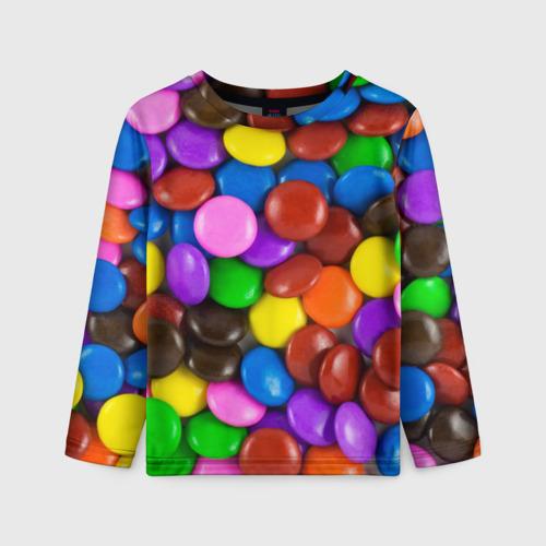 Детский лонгслив 3D Цветные конфетки
