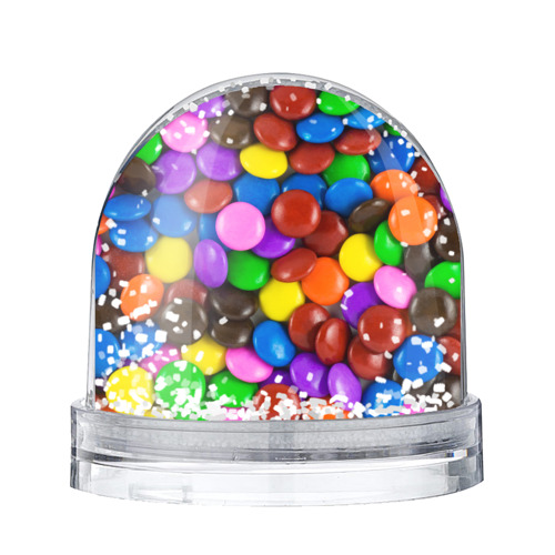 Водяной шар со снегом Цветные конфетки