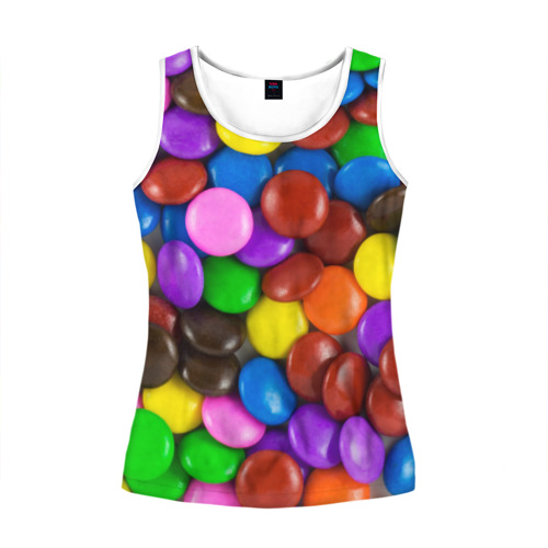 Женская майка 3D Цветные конфетки