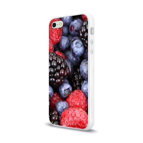 Чехол для Apple iPhone 5/5S силиконовый глянцевый  Фото 03, Ягодки