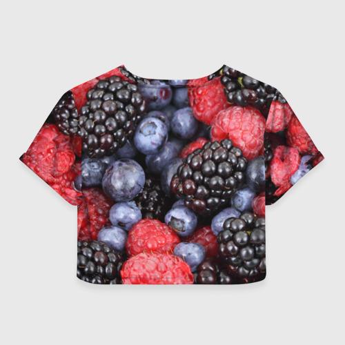 Женская футболка 3D укороченная  Фото 02, Ягодки