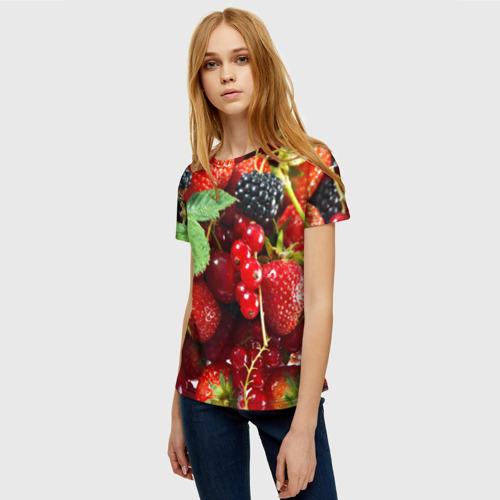 Женская футболка 3D Любимые ягоды Фото 01