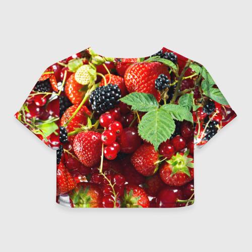 Женская футболка 3D укороченная  Фото 02, Любимые ягоды
