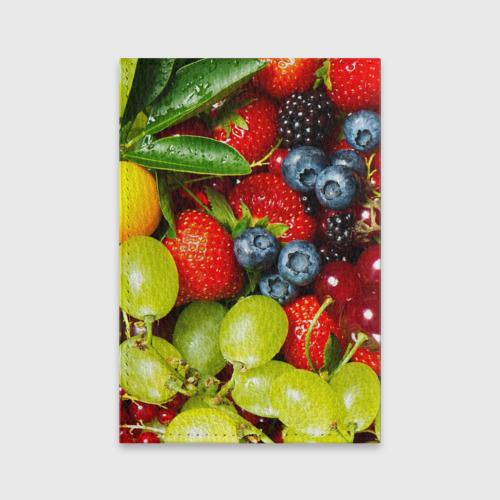 Обложка для паспорта матовая кожа Вкусные ягоды