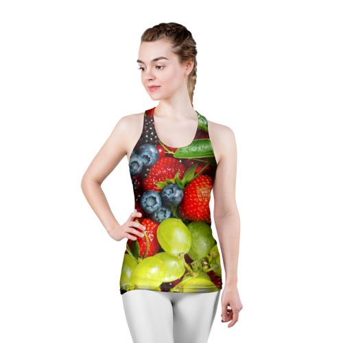 Женская майка 3D спортивная  Фото 03, Вкусные ягоды