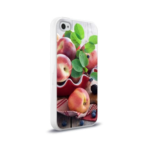 Чехол для Apple iPhone 4/4S силиконовый глянцевый  Фото 02, Персики