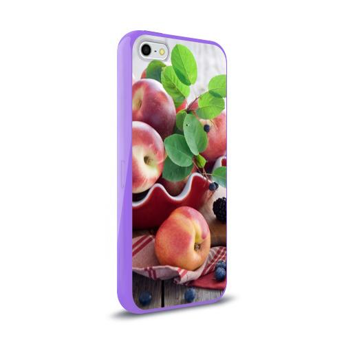Чехол для iPhone 5/5S глянцевый Персики Фото 01