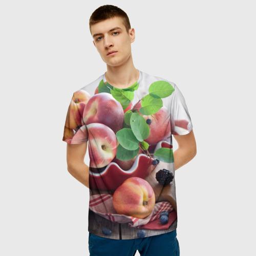 Мужская футболка 3D Персики Фото 01